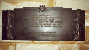 Pamětní deska padlým čs. vojákům a letcům ve Westminsterském opatství v Londýně. FOTO: Jaroslav Beránek