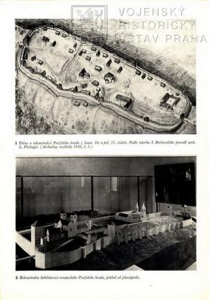 Přiložené fotografie modelu Pražského hradu.