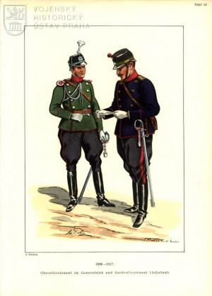 Štábní důstojníci počátku 20. století.