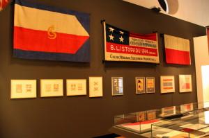 Část jedné ze sekcí výstavy Doteky státnosti