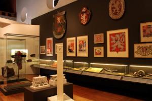 Část jedné ze sekcí výstavy Doteky státnosti - Ve znamení lva