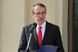 Roman Lipták z Kanceláře prezidenta republiky přečetl osobní prezidentův pozdrav