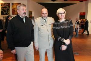 Náčelník GŠ AČR, generálporučík Aleš Opata, plukovník Aleš Knížek a ministryně obrany Karla Šlechtová