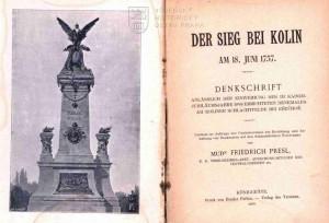 Titulní list a frontispis s vyobrazením památníku