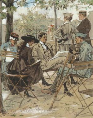 Invalida v Lucemburské zahradě, Paříž 1916