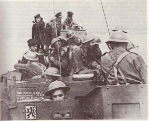 Příslušníci Čs. samostatné obrněné brigády při výcviku