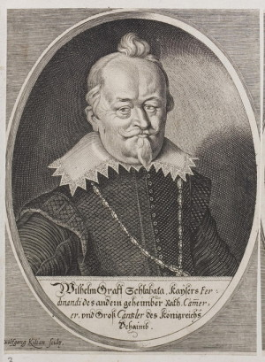 Vilém Slavata z Chlumu a Košumberka (1572–1652), defenestrovaný radikální katolík.