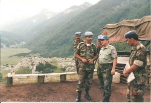 Rok 1995 – plukovník Blahna na kontrole pozic jordánské jednotky