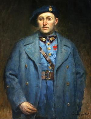 Generál Otakar Husák na portrétu akademického malíře Jana Čumpelíka, 30. léta 20. stol. (VHÚ Praha)