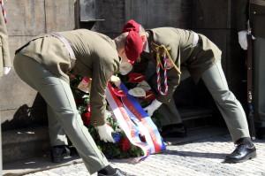 Pietní akt v Resslově ulici v Praze