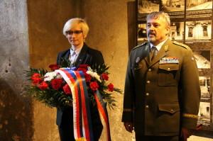 Ministryně obrany Karla Šlechtová, náčelník Generálního štábu Armády České republiky generálporučík Aleš Opata
