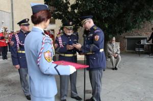 Theodor Pištěk přijímá čestné členství Hradní stráže