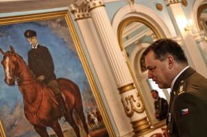 Kopie obrazu Jaroslava Riedla T. G. Masaryk na koni