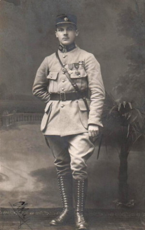 V uniformě příslušníka francouzských legií v roce 1919