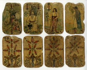 Ručně malované karty s motivem ze starých českých pověstí