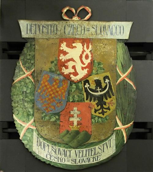 Vývěsní štít z doplňovacího velitelství čs. legií v Itálii, 1918