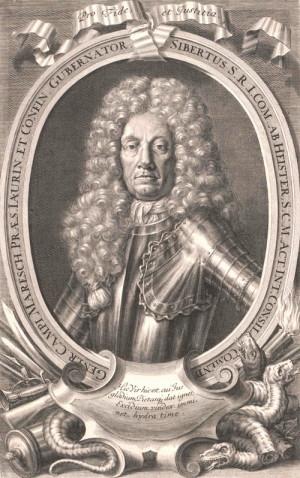 Polní maršál Sigbert hrabě Heister, nejvyšší velitel císařského vojska v Uhrách v letech 1704-1705 a 1708, zachránce Strážnice a vítěz bitvy u Trenčína.