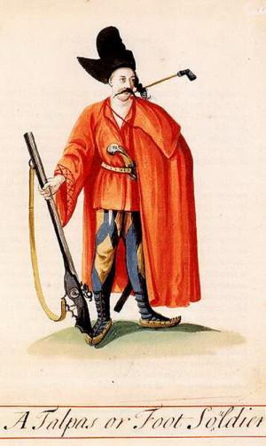 Talpas - kurucký pěšák.