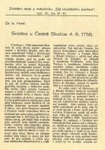HONL, Ivan. Srážka u České Skalice 4. 8. 1758