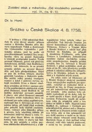 První strana textu