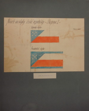 Vlastislav Hofman-Návrh vojenské a prezidentské vlajky