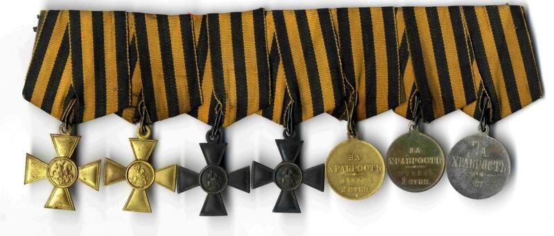 Nositelská kopie ruských vyznamenání za statečnost Karla Vašátka