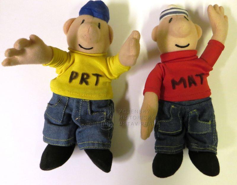 Plyšové postavičky PRT a MAT