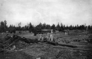 Šachta poblíž Alapajevska, kde bolševici v noci ze 17. na 18. července 1918 zavraždili členy rodiny Romanovů, držené v Alapajevsku (Foto VÚA-VHA)