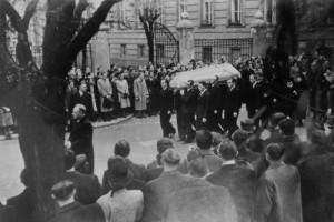 Pohřeb Jana Opletala dne 15. listopadu 1939