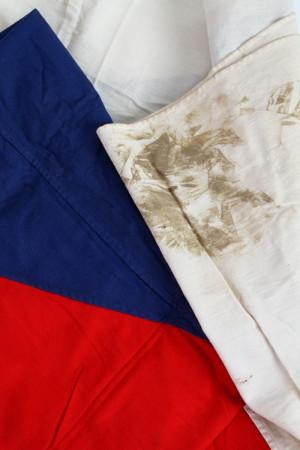 Československá vlajka potřísněná krví, 1968