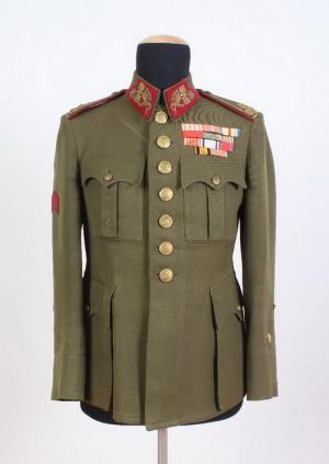 Blůza divizního generála Aloise Eliáše, 1938