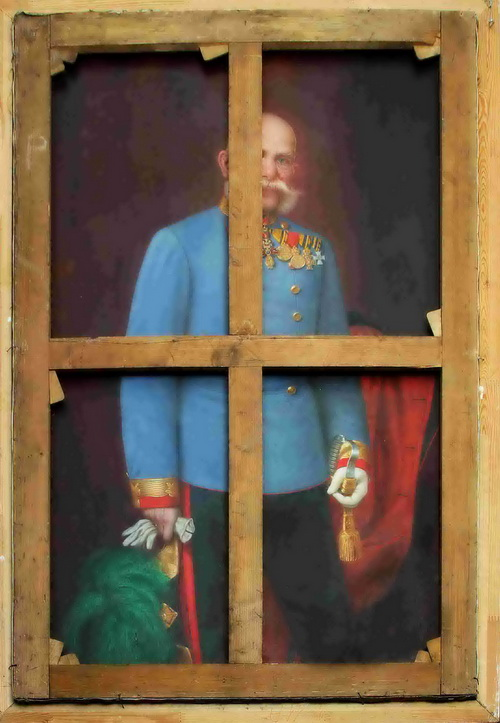Portrét T. G. Masaryka na obraze Františka Josefa I.
