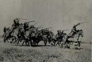 Cvičný útok československé jízdy, druhá polovina 30. let