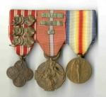Ramínko legionářských vyznamenání generála Aloise Eliáše
