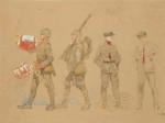 F. Kupka: Návrhy stejnokrojů pro čs. armádu ve Francii