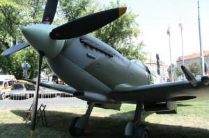 Maketa letounu Supermarine Spitfire patřící Czech Spitfire Clubu