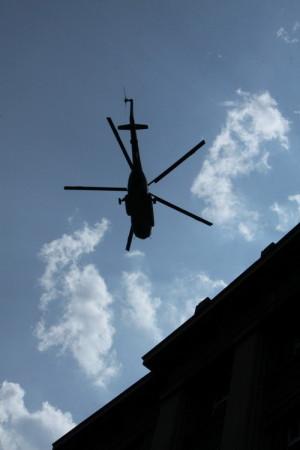 Vrtulníky nad Prahou, součást vernisáže