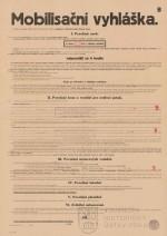 Mobilizační vyhláška, 1938