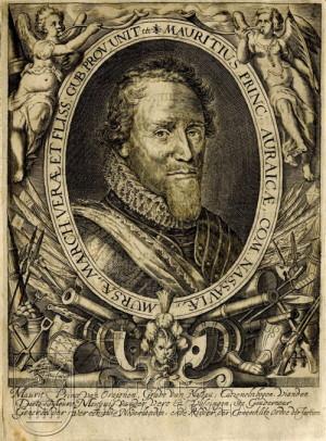 Portrét Mořice Oranžského.