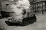 Tank T-34/85 při natáčení filmu Osvobození Prahy