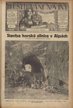 Titulní strana – rakousko-uherská stavební činnost na italské frontě.