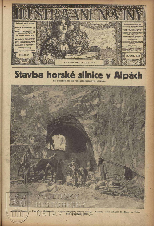 Vídeňské illustrované noviny ze září 1918.