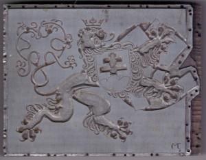 Vojtěch Preissig, Hrom a peklo, tisková matrice, 1939