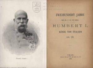 Titulní list a frontispis s portrétní fotografií císaře Františka Josefa I.