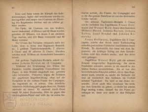 Text uvádějící ztráty v bitvě u Custozy 24. června 1866 a začátek výčtu vyznamenaných vojáků.