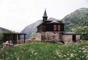 Javorca, kostel sv. Ducha.  (foto Marko Grego – Tolminské muzeum)