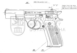 Pistole ČZ model 75