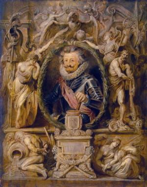 Vrchní velitel císařského vojska Karel Bonaventura hrabě Buquoy na portrétu významného barokního malíře Petra Pavla Rubense.