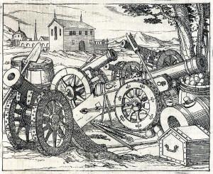 Zásadní význam mělo u Čáslavi pro obě strany dělostřelectvo: Ukázka dělostřeleckého vybavení z dobové příručky Leonharda Zublera.