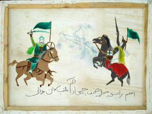 Souboj muslimského bojovníka s křižákem.